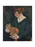 Woman with a Cat (Louson Et Raminow)  1920