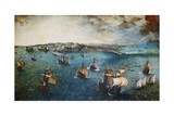 View of the Port of Naples  Ca  1560