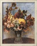 Bouquet de Printemps  Art texturé encadré par Pierre-Auguste Renoir