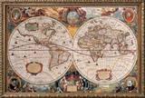 Carte géographique ancienne Reproduction encadrée par Henricus Hondius