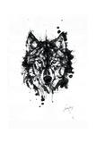 Inked Wolf Giclée par James Grey
