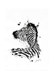 Inked Zebra Giclée par James Grey