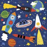 Space Explorer II Reproduction d'art par Lesley Grainger