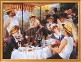 Le déjeuner des canotiers, vers 1881 Art texturé encadré par Pierre-Auguste Renoir