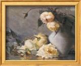 Harmony in Gray and Yellow Art texturé encadré par Mary Reid