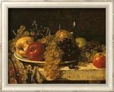 Raisins et pommes Art texturé encadré par François Miel