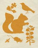Woodland Creatures II Reproduction d'art par Clara Wells