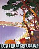 L'Ete Sur la Cote D'Azur Reproduction d'art par Roger Broders