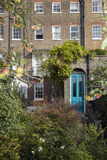 London Garden with Apples and Blue Door (18th Century Row House  Rear View)