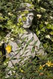 Garden Statue Wwi Soldier (English Garden Scene)