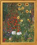 Farm Garden with Sunflowers  c1912