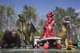 Toy Dinosaurs (Display with Skateboard)