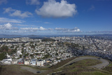 Twin Peaks View of San Francisco  CA 4 (City with Bay and Clouds)