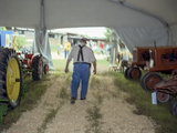 North Carolina State Fair Tractor Exhibit - Rural Farmer in Overalls