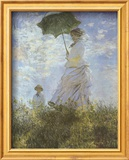 Woman with Parasol and Child