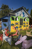 Painted Sculpture  Outsider Art on Lawn (North Carolina)