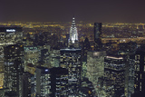 New York City  Top View 11 (Chrysler Building  Looking East  Night)