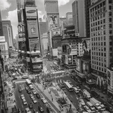 Times Square  NY Afternoon - Aerial View Of Midtown Manhattan Iconic Nyc