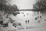 People Walking in the Snow  Prospect Park