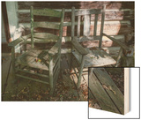 Old Wooden Chairs on Porch (Chapel Hill  NC)