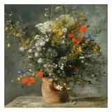 Fleurs dans un vase Reproduction d'art par Auguste Renoir