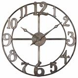 "Delevan 32"" Metal Wall Clock"