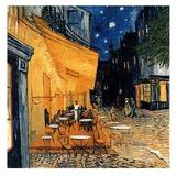 Cafe Terasse in the Evening Reproduction d'art par Vincent Van Gogh