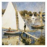 La scéne à Argenteuil Reproduction d'art par Auguste Renoir