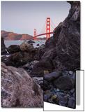 View From The Rocks   Golden Gate Bridge  San Francisco