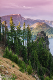 Scene at the Mysterious Wizard Island  Crater Lake Oregon