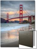 Marshall Beach Sunset and Golden Gate Bridge  California