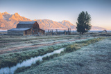 Chilly Morning at Mormon Row  Grand Teton Wyoming
