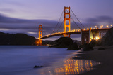 Blue Hour at Golden Gate Bridge  San Francisco California