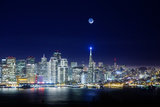 San Francisco Holiday Cityscape and Crescent Moon