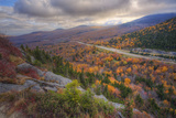 Autumn Road Through the White Mountains  New Hampshire