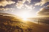 Polihale Sunset Beachscape  Kauai Hawaii
