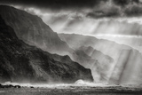 Sacred Light and Mist at Na Pali Coast  Kauai Hawaii