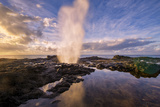 Morning Light and Spouting Horn  Kauai Hawaii