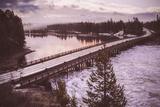 Chilly Morning at Fishing Bridge  Yellowstone Wyoming