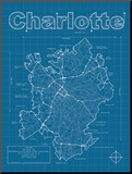 Charlotte Artistic Blueprint Map