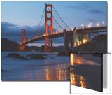 Early Evening at Golden Gate Bridge  San Francisco California