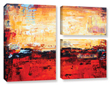 Jolina Anthony's Sunset  3 Piece Gallery-Wrapped Canvas Flag Set