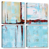 Jolina Anthony's Winterpane  4 Piece Gallery-Wrapped Canvas Square Set