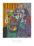 La Robe Violette et Anemones