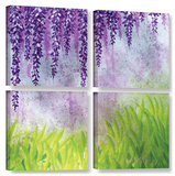 Herb Dickinson's Mellow Morning  4 Piece Gallery-Wrapped Canvas Square Set