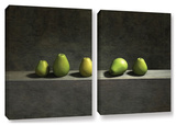 Cynthia Decker's Five Pears  2 Piece Gallery-Wrapped Canvas Set