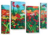 Herb Dickinson's Cheryl'S Garden  4 Piece Gallery-Wrapped Canvas Staggered Set