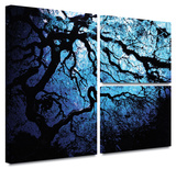 John Black 'Japanese Ice Tree' Flag 3 piece gallery-wrapped canvas