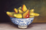 Pears in a Blue Bowl