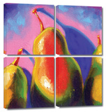 Susi Franco 'Pearfect Shadow' 4 piece Gallery-Wrapped Canvas